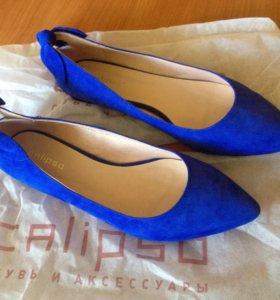 Замшевые туфли 37 размер(новые)