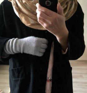Пальто +шарф+перчатки