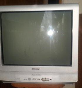 старый рабочий телевизор шарп sharp