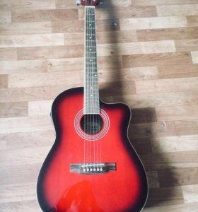 Электроакустическая гитара+чехол