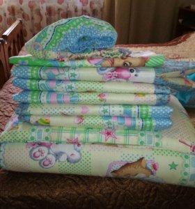 Одеяло, подушка, бортики