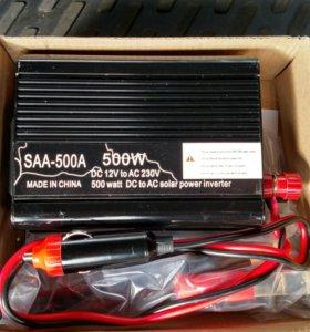 Автомоб инвертор 500w (преобразователь напряжения)