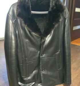Куртка воротник норка