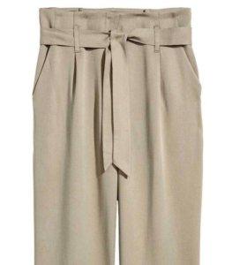 Широкие брюки на высокой талии новые!