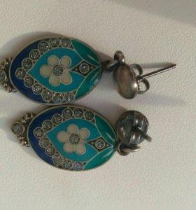 Серьги испанской бижутерии clara bijoux