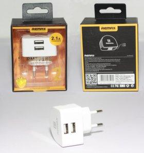 Сетевое зарядное устройство Remax на 2 USB порта
