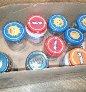 Баночки от детского питания, много