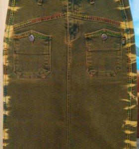 Юбка джинсовая новая размер 42-44