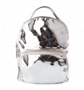 Новый женский серебряный рюкзак