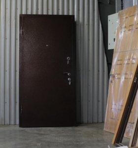 Стальная дверь новосёлам с порошковым покрытием