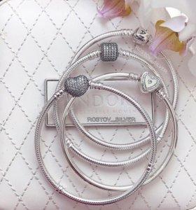 Браслеты, шармы, серьги, кольца, колье Pandora