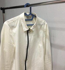 Белая блузка с молнией Zara