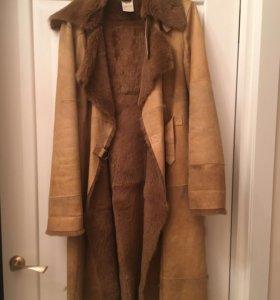 Дубленка, пальто с мехом р 46-48 р 164-173