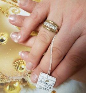 кольцо золотое, 585 проба, новое