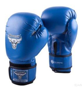 Перчатки для бокса, тайского бокса синие
