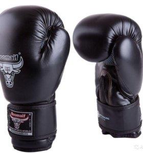 Перчатки для бокса, тайского бокса черные