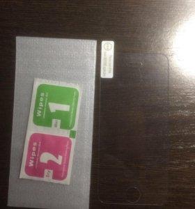 Стекло защитное на экран для iPhone 5, 5c, 5s, se.