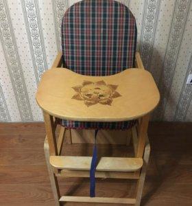 Деревянный стул трансформер
