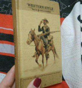"Блокнот - книга ""western style"""