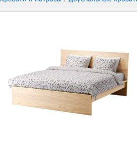 Кровать Мальм и матрас хессенг икеа