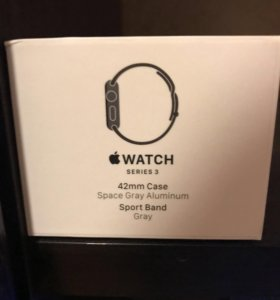 Apple Watch Series 3 42 mm Space Gray Aluminum