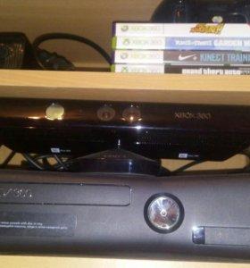 Xbox 360 slim+kinect+игры