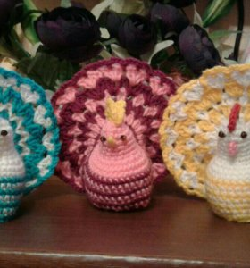 Пасхальные сувениры курочка и петушок