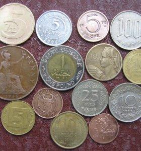 Монеты иностранные разные