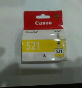 Картридж саnon 521 желтый