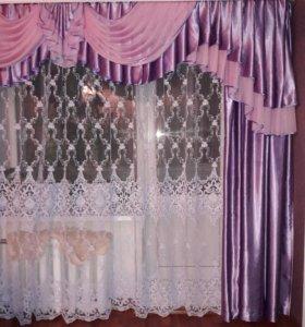 Ламбрекен с ночными шторами