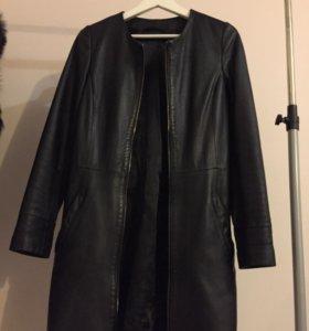 Куртка кожаная удлинённая