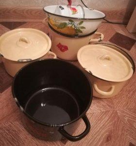 Новые эмаль посуда брак
