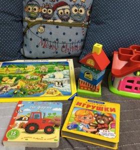 Развивающие игрушки ( пазлы,сортер, пирамидка)