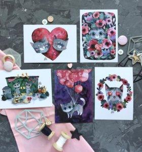 Набор поздравительных карточек
