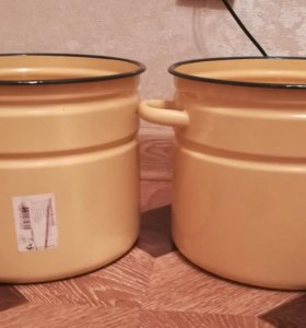 Новые эмаль кастрюли 9 литров