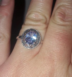 Аметист кольцо серебро