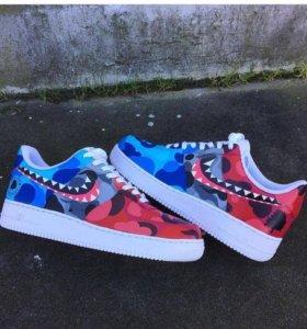 Bape кроссовки Nike