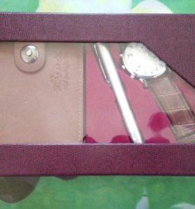 Новый набор часы+портмоне+ ручка