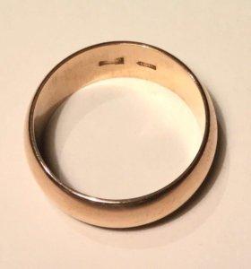 Кольцо обручальное цыганское золото 583 проба СССР