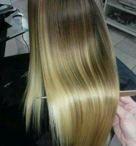 Кератиновое выпрямление волос и прикорневой объем