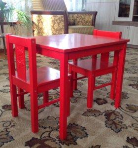 Детский стол со стульями Ikea