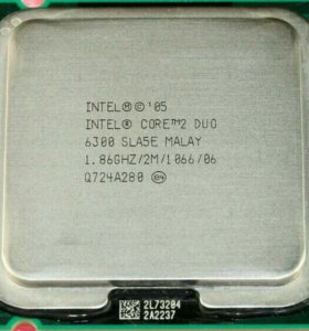 Процессор Intel core duo 2.6300