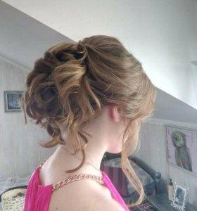 Прическа+макияж на выпускной