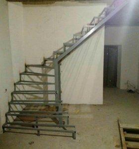 Лестницы из металла, металлокаркасы