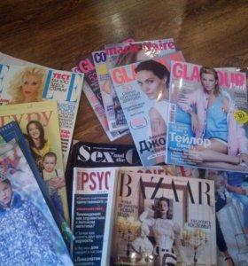 Журналы Elle, glamour, cosmopolitan, кенгуру и др