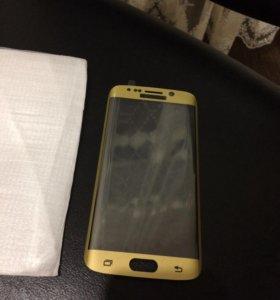 Закаленное стекло 3d Samsung s6 edge