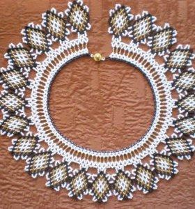 Ожерелье из чешского бисера
