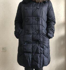 Пальто синее зимнее incity