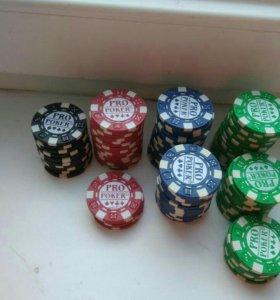 Фишки для покера 98 шт