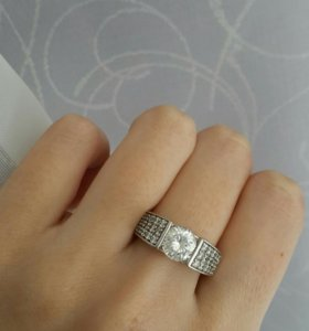 Кольцо, серьги и кулон серебро